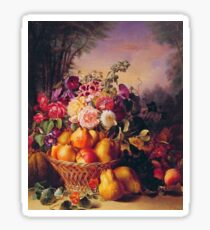 Flowers and Fruit Sticker