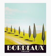 bordeaux france travel poster Photographic Print