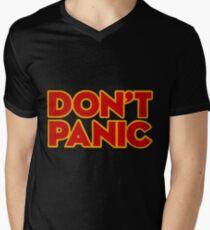 Don't Panic Men's V-Neck T-Shirt