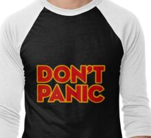 Don't Panic Men's Baseball ¾ T-Shirt