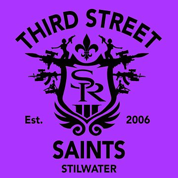 Saints Row 3 Emblem Tribute Black by BPPhotoDesign