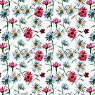 Chamomile watercolor field by StefaStefo4ka