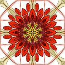 Red Flower Repeat by WelshPixie