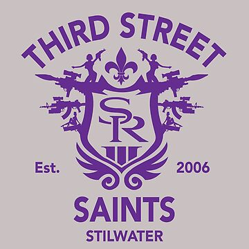 Saints Row 3 Tribute Emblem Purple by BPPhotoDesign