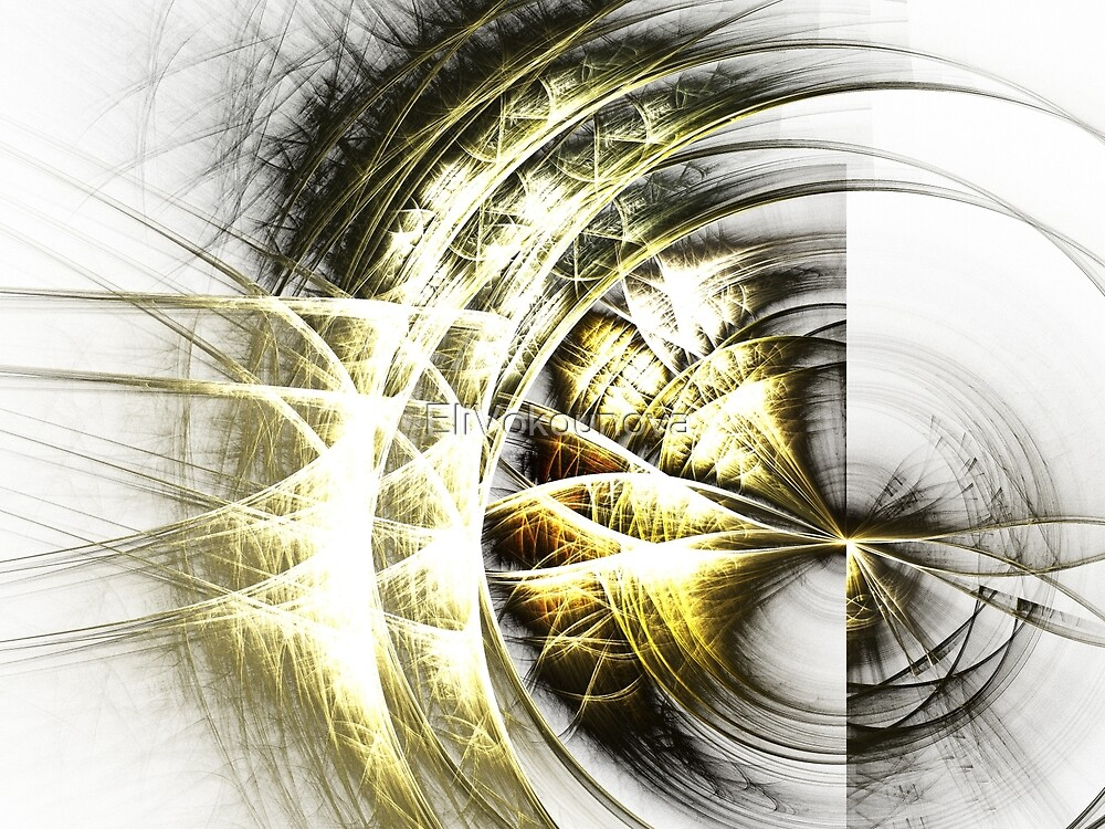 Frailty - Abstract Fractal Artwork by EliVokounova