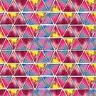 Watercolor colorful triangles by StefaStefo4ka