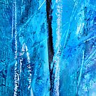 Blue and Black Abstract by Kathie Nichols