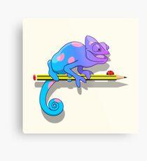 Colorblind chameleon Metal Print