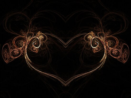Heart of the Forest - Abstract Fractal Artwork by EliVokounova