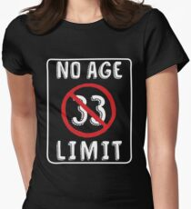 No Age Limit 33rd Birthday Gifts Comical B Day For 33 Year Old Womens Fitted