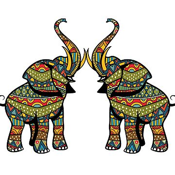 Colorful Elephant - T shirt by RadTechdesigns