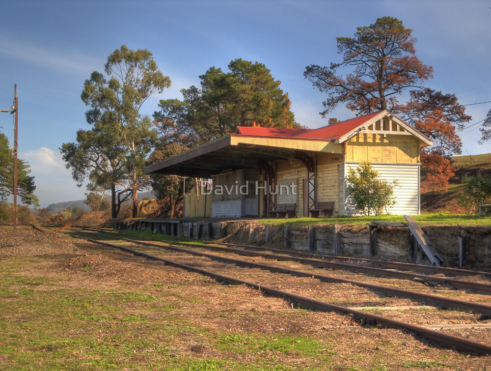 Yarra Glen Railway Station By David Hunt Redbubble