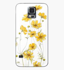 Yellow Cosmos Flowers Case/Skin for Samsung Galaxy