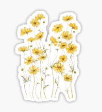 Yellow Cosmos Flowers Sticker