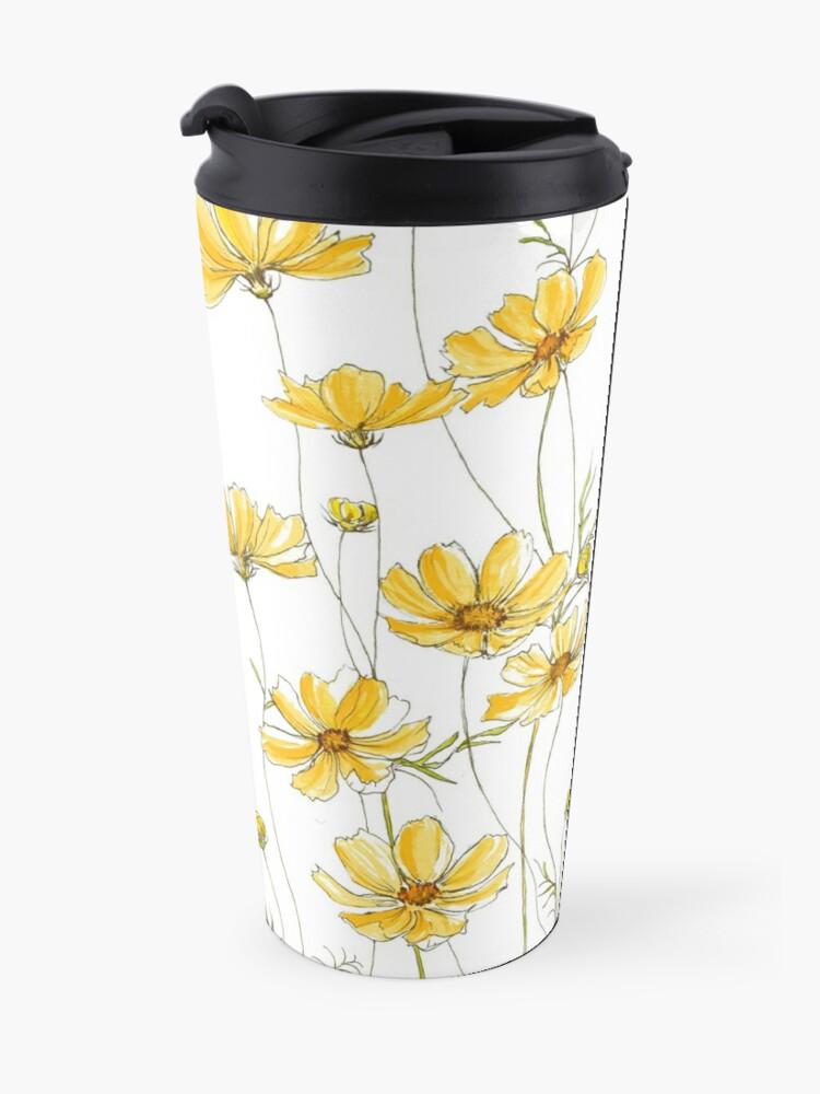 Alternate view of Yellow Cosmos Flowers Travel Mug