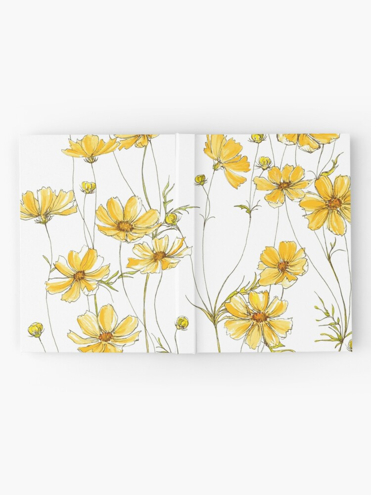 Alternate view of Yellow Cosmos Flowers Hardcover Journal