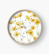 Reloj Flores amarillas de cosmos