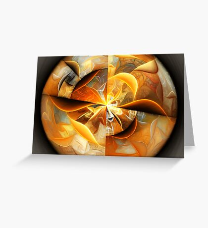 Smiles - Abstract Fractal Artwork Greeting Card