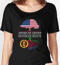 American Grown with Eritrean Roots   Eritrea Design Women's Relaxed Fit T-Shirt