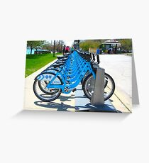 Rent & Ride Chicago Bicycles Greeting Card