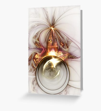 Oracle - Abstract Fractal Artwork Greeting Card
