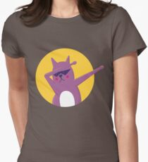 Cool Cat Dab Women's Fitted T-Shirt