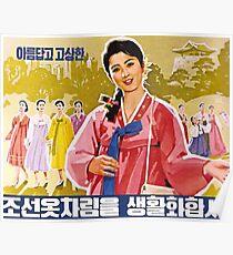 Ladies Wearing Hanbok Poster