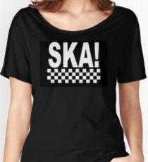 ska music punk reggae skinhead retro Women's Relaxed Fit T-Shirt