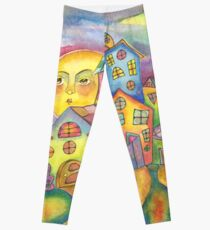 House In My Dreams by Lierre Kandel Leggings