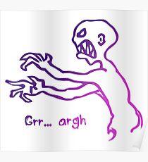 Grr Argh Monster Ombre Colours - Buffy the Vampire Slayer, Mutant Enemy, 90s, BTVS, Zombie, Joss Whedon, Buffyverse, Monster, Vampire, Grrr Arrgh Poster