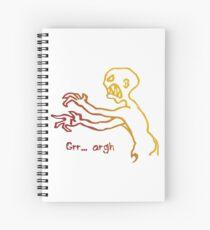 Grr Argh Monster Ombre Colours - Buffy the Vampire Slayer, Mutant Enemy, 90s, BTVS, Zombie, Joss Whedon, Buffyverse, Monster, Vampire, Grrr Arrgh Spiral Notebook
