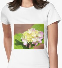 Pastel Hydrangea Women's Fitted T-Shirt
