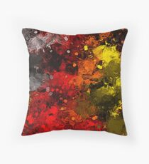 Riotous Autumn Abstract Throw Pillow