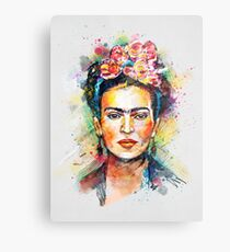 Frida Kahlo Metalldruck