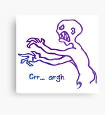 Grr Argh Monster Ombre Colours - Buffy the Vampire Slayer, Mutant Enemy, 90s, BTVS, Zombie, Joss Whedon, Buffyverse, Monster, Vampire, Grrr Arrgh Metal Print