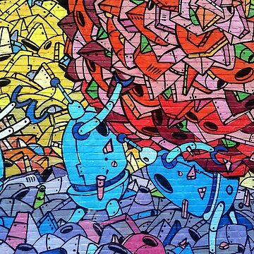 Colorful Graffiti Pattern by alabafruit