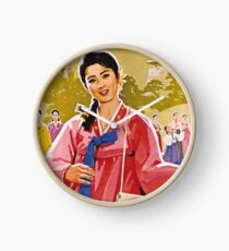 Ladies Wearing Hanbok Clock