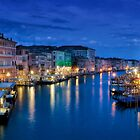 Grand Canal at night by Delfino