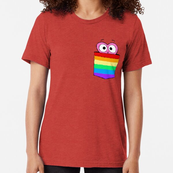In a Heartbeat - LGBT Flag Pocket Tri-blend T-Shirt