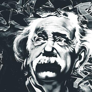 Einstein Street Art Graffiti by alabafruit