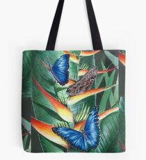 heliconia and morphos Tote Bag