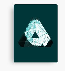Abstract Geometry: Ocean Crystal (Ice Blue) Canvas Print