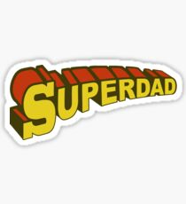 SUPERDAD- Super bad Super Dad Sticker
