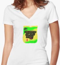 sweet sweet existential dread Women's Fitted V-Neck T-Shirt