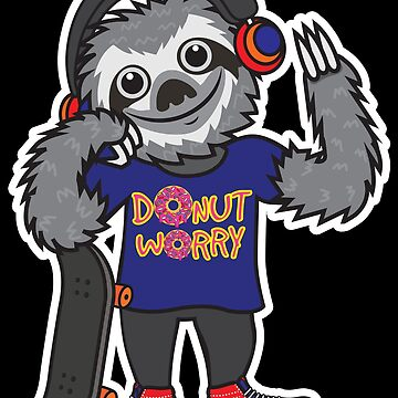 Sloth Donut Worry by plushism