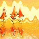 Firestorm Abstract  by Shelli Fitzpatrick