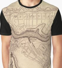 Map Of Brest 1693 Graphic T-Shirt