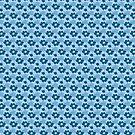 beach flower blue by inkletween