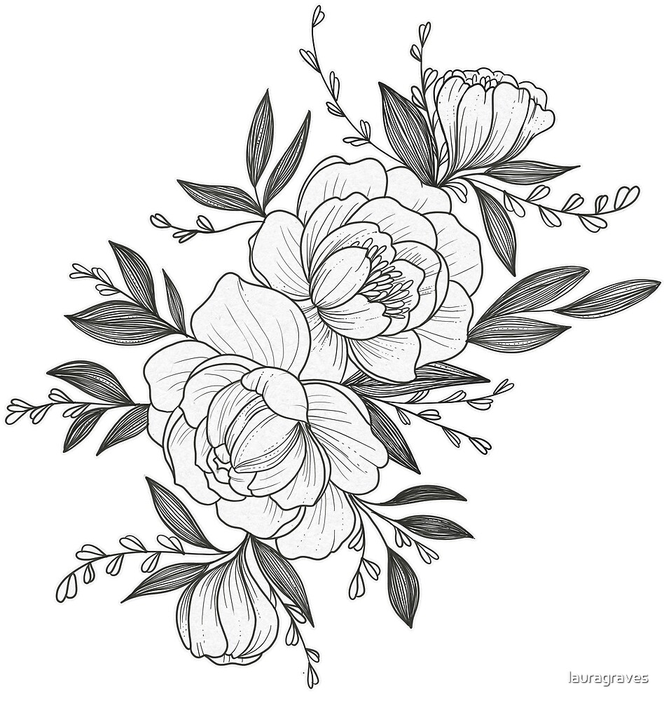 """floral Sketch"" By Lauragraves"