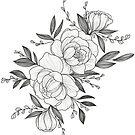 floral sketch by lauragraves